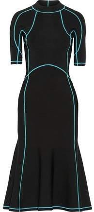 Alexander Wang Lace-Up Stretch-Knit Midi Dress