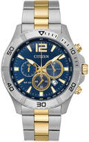 Citizen Men's Chronograph Two-Tone Stainless Steel Bracelet Watch 44mm AN8124-56L, A Macy's Exclusive