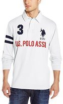 U.S. Polo Assn. Men's Long Sleeve Heavy Weight Cotton Jersey Rugby Polo Shirt