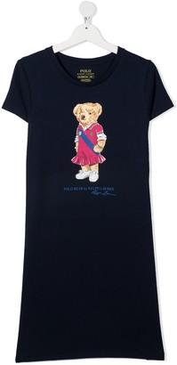Ralph Lauren Kids TEEN teddy bear-print T-shirt dress