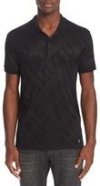 Versace Men's Sheer Frame Print Polo Shirt