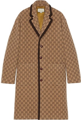 Gucci GG print single-breasted coat