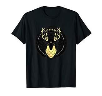 Celtic Cernunnos Pagan Horned Stag Forest God with Pentagram T-Shirt