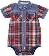 Kapital K Snapdown Bodysuit (Baby) - Plaid-3-6 Months