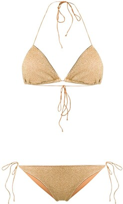 Oseree Lumiere metallic triangle bikini