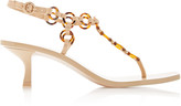 Cult Gaia Caitlyn Leather Kitten-Heel Sandals