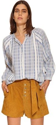 BA&SH East Striped Cotton Poplin Shirt