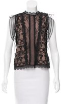 Alexis Lace Keyhole-Accented Top