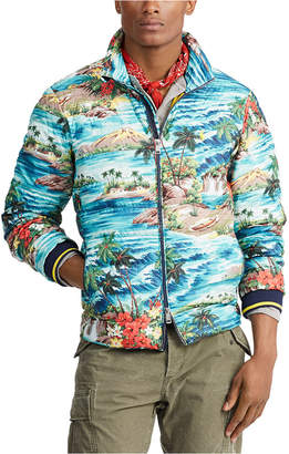 Polo Ralph Lauren Men Holden Packable Down Tropical Print Jacket