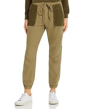 Monrow Honeycomb-Pocket Jogger Pants