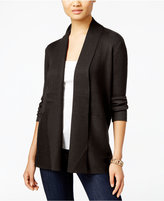 JM Collection Ribbed Open-Front Cardigan, Only at Macy's