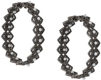 Colette 18kt Black Gold Diamond Hoops