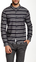 NATIVE YOUTH Geo Stripe Long Sleeve Trim Fit Shirt
