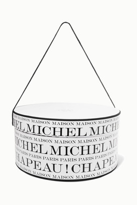Maison Michel Printed Hat Box - White