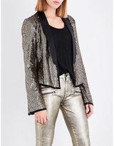 Rosie Hw X Paige Kate sequin and silk blazer