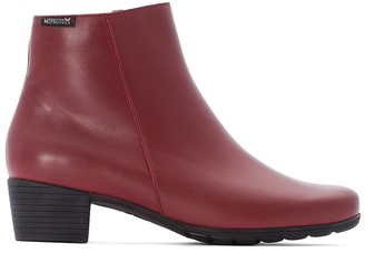 Mephisto Ilsa Leather Ankle Boots with Block Heel