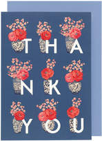 Cath Kidston Blossom Vases Thank You Greetings Card
