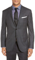 Corneliani Classic Fit Check Wool Sport Coat