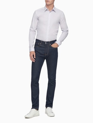 Calvin Klein Slim Fit Check Performance Non-Iron Dress Shirt