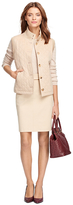 Brooks Brothers Quilted Camel Hair Vest
