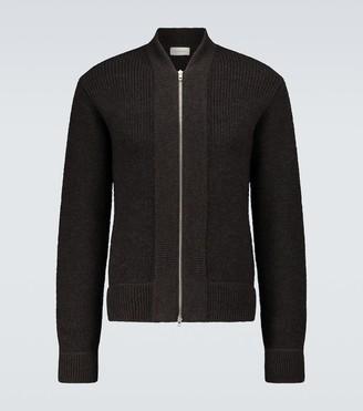 Lemaire Zipped wool melange cardigan