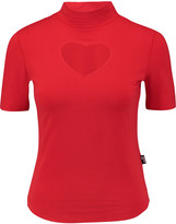 Love Moschino Cutout stretch cotton-blend top