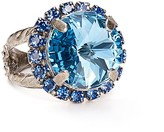 Sorrelli Swarovski Crystal Round Cocktail Ring