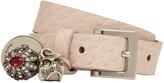 Alexander McQueen Pink Snakeskin Fly Double-wrap Bracelet