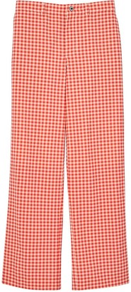 Burberry Cut-Out Back Gingham Trousers