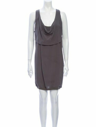 Brunello Cucinelli Silk Mini Dress Grey