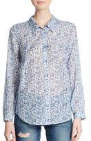 Joie Katrine Floral-Print Cotton & Silk Shirt