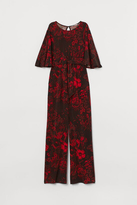 H&M MAMA Jumpsuit with Ties - Black