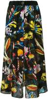 Giorgio Armani high-waisted floral skirt