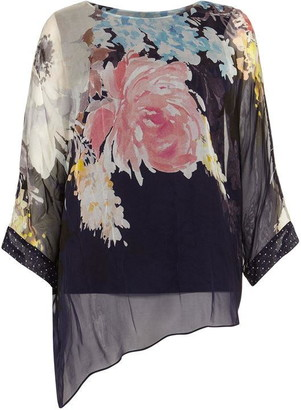 Phase Eight Blanche Floral Spot Silk Blouse