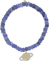 Sydney Evan Diamond Saturn Blue Tanzanite Rondelle Beaded Bracelet
