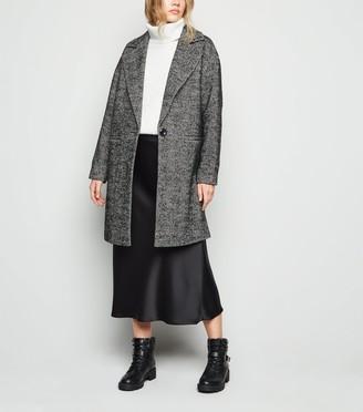 New Look Herringbone Oversized Coat