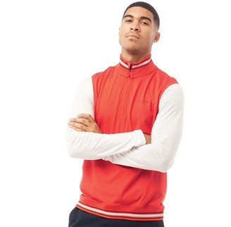 Ted Baker Mens Gala Golf Gilet Red