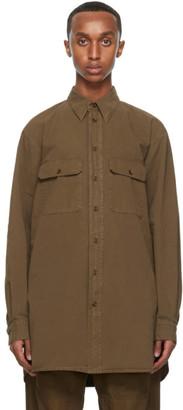 Lemaire Brown Denim Military Shirt