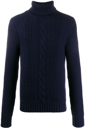 Michael Kors Cable Knit Roll Neck Jumper