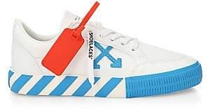 Off-White Women's Arrow Low-Top Neon Canvas Sneakers