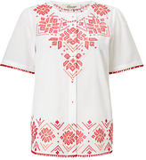 Somerset by Alice Temperley Embroidered Top, White Mix