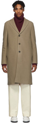Harris Wharf London Tan Virgin Wool Overcoat