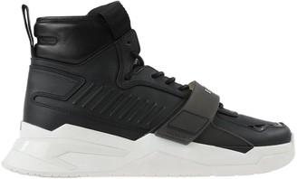 Balmain Black Leather B-ball Sneakers
