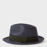 Paul Smith Men's Navy Straw Panama Hat