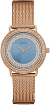 GUESS Women's Willow Rose Gold-Tone Stainless Steel Bracelet Watch 35mm U0836L1