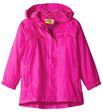 Western Chief Solid Nylon Rain Coat (Toddler/Little Kids/Big Kids) (Pink) Girl's Coat
