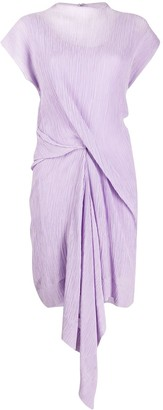 Nina Ricci Draped Front Shift Dress