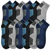 Angelina Navy & Gray Geometric Low Cut 12-Pair Socks Set