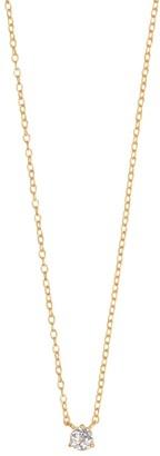 Wanderlust + Co Brilliant Topaz Gold Sterling Silver Necklace