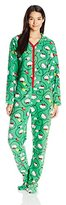 Hello Kitty Women's Ugly Holiday Footed Pajamas with Hood